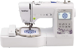 Image of a computerized embroidery machine