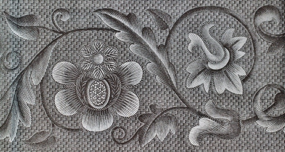 Image of embroidery pattern but Can you sew with an embroidery machine?