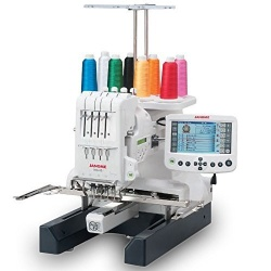 Image of a janome embroidery machine