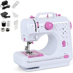 Image of a sewing and embroidery machine