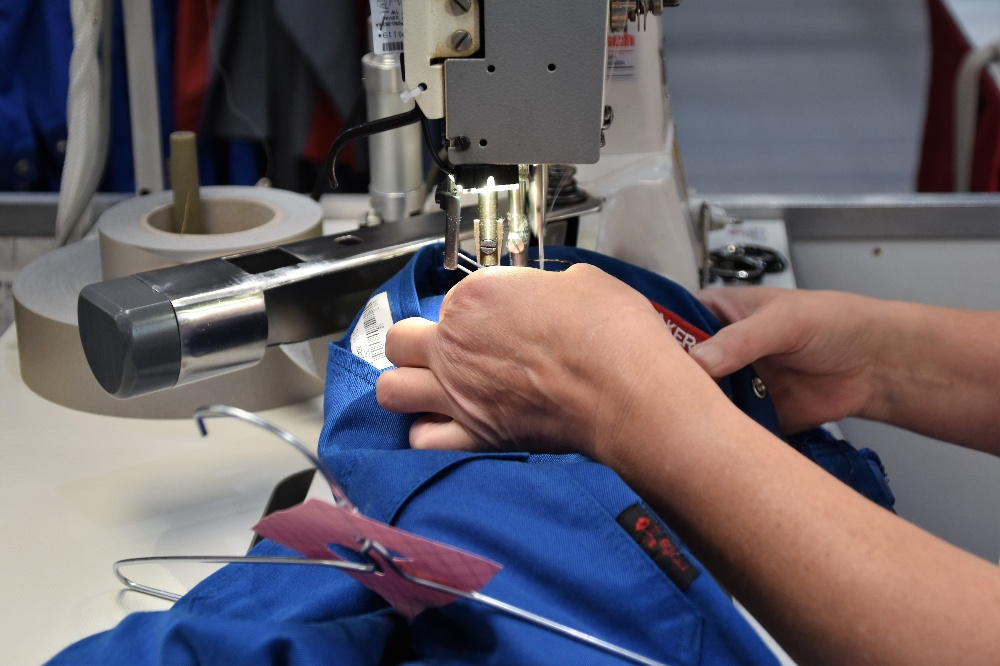 Image of the Best Sewing Machine For Hemming Curtains and Jeans in use