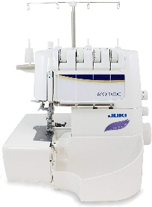 Image of a serger. Know pre-wash the material to keep the final product from shrinking.