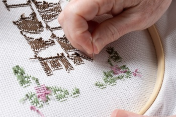Image of embroidery art, know How to Machine Embroider Napkins
